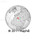"""Outline Map of the Area around 44° 19' 14"""" N, 19° 37' 30"""" E, rectangular outline"""
