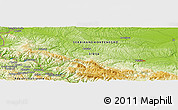 """Physical Panoramic Map of the area around 44°19'14""""N,19°37'30""""E"""