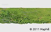 Satellite Panoramic Map of Bastahovine