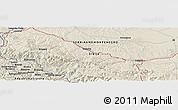 Shaded Relief Panoramic Map of Bastahovine