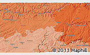 """Political 3D Map of the area around 44°19'14""""N,1°46'29""""E"""