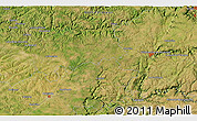 """Satellite 3D Map of the area around 44°19'14""""N,1°46'29""""E"""