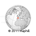 Outline Map of Mimizan, rectangular outline