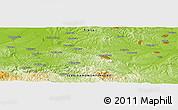 Physical Panoramic Map of Brović