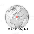 """Outline Map of the Area around 44° 19' 14"""" N, 21° 19' 30"""" E, rectangular outline"""