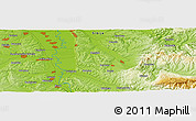 """Physical Panoramic Map of the area around 44°19'14""""N,21°19'30""""E"""