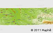 Physical Panoramic Map of Bačinac