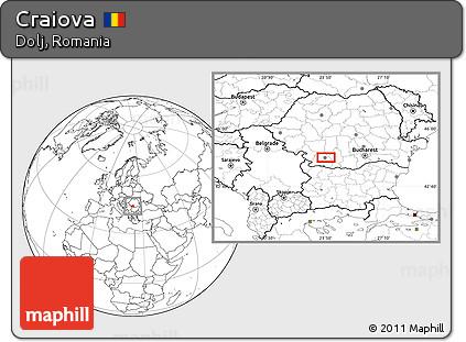 Map of Craiova