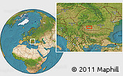 Satellite Location Map of Craiova