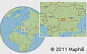Savanna Style Location Map of Craiova