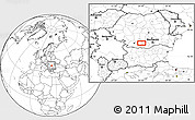 """Blank Location Map of the area around 44°19'14""""N,24°43'30""""E"""