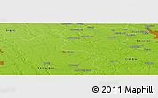 "Physical Panoramic Map of the area around 44° 19' 14"" N, 25° 34' 30"" E"