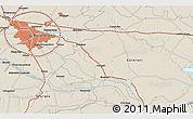 Shaded Relief 3D Map of Vatra Mînăstirii Cotroceni