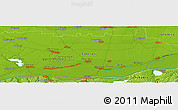 """Physical Panoramic Map of the area around 44°19'14""""N,27°16'29""""E"""