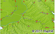 """Physical Map of the area around 44°19'14""""N,28°7'30""""E"""