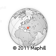 """Outline Map of the Area around 44° 19' 14"""" N, 28° 7' 30"""" E, rectangular outline"""