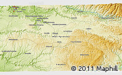 """Physical 3D Map of the area around 44°19'14""""N,2°37'30""""E"""