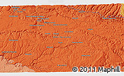 """Political 3D Map of the area around 44°19'14""""N,2°37'30""""E"""