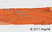 """Political Panoramic Map of the area around 44°19'14""""N,2°37'30""""E"""