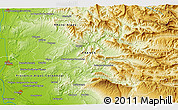 """Physical 3D Map of the area around 44°19'14""""N,5°10'30""""E"""