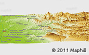 """Physical Panoramic Map of the area around 44°19'14""""N,5°10'30""""E"""