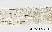 """Shaded Relief Panoramic Map of the area around 44°19'14""""N,5°10'30""""E"""