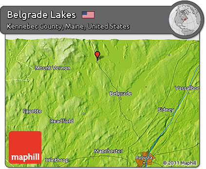 Free Physical 3d Map Of Belgrade Lakes