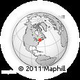 Outline Map of St. Johnsbury, rectangular outline