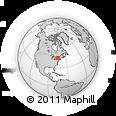 Outline Map of Brier Hill, rectangular outline