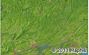 Satellite Map of Fredericksburg