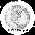 Outline Map of 274 Noftall Gardens, rectangular outline
