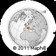 Outline Map of Dronero, rectangular outline