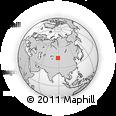 Outline Map of Ziniquanzi, rectangular outline