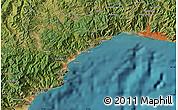 Satellite Map of Genoa