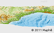 Physical Panoramic Map of Genoa