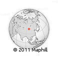 Outline Map of Dzalaa, rectangular outline