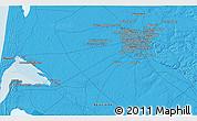 Political 3D Map of Bordeaux