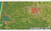 Satellite 3D Map of Bordeaux