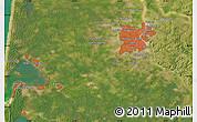 Satellite Map of Bordeaux