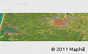 Satellite Panoramic Map of Bordeaux