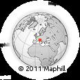 Outline Map of Reggio Nell'Emilia, rectangular outline