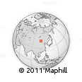 Outline Map of Sainshand, rectangular outline