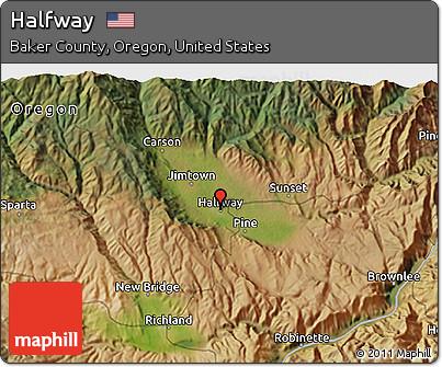Halfway Oregon Map.Free Satellite 3d Map Of Halfway