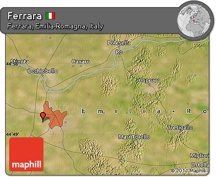 Free Satellite Map Of Ferrara - Ferrara map