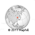 """Outline Map of the Area around 44° 44' 51"""" N, 122° 28' 29"""" E, rectangular outline"""