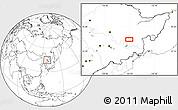 Blank Location Map of Mudanjiang