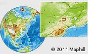 Physical Location Map of Mudanjiang