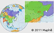 Political Location Map of Mudanjiang