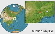 Satellite Location Map of Mudanjiang