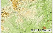 Physical Map of Mudanjiang